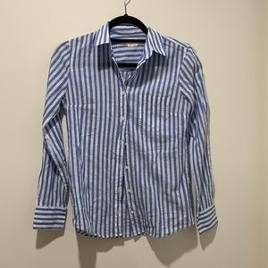 J.crew striped long sleeve button up